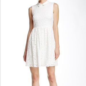 Betsey Johnson White Lace collared dress 8